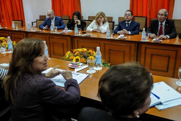 La delegación del Parlamento Europeo se reunió con parlamentarios cubanos. (Foto ACN)