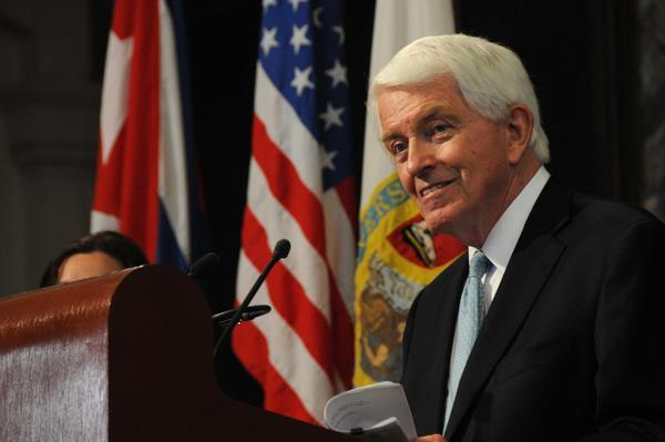 Thomas J. Donohue, Presidente de la Cámara de Comercio de Estados Unidos. (Foto ACN)