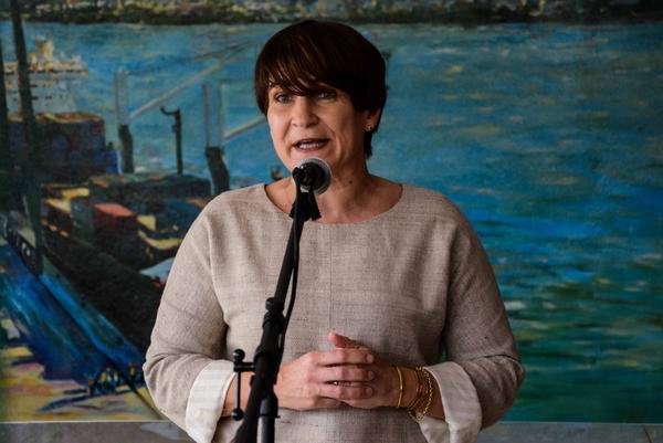 """""""Esperamos que las compañías holandesas puedan venir, invertir y trabajar con la parte cubana"""", subrayó Lilianna Ploumen. (Foto ACN)"""