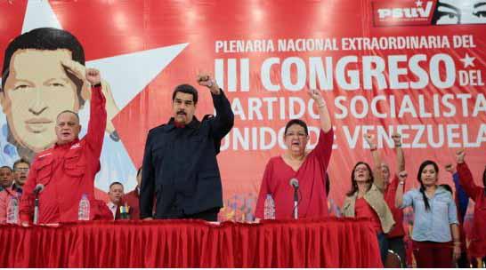 Maduro presidió la Plenaria Nacional Extraordinaria del III Congreso del PSUV. (Foto AVN)