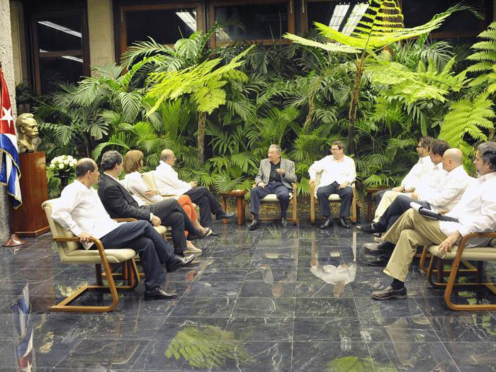 En un ambiente constructivo intercambiaron sobre la marcha de los diálogos que tienen lugar en La Habana. (Foto: Estudios Revolución)