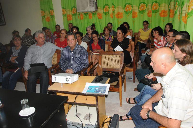 sancti spiritus, miguel diaz-canel, prim er vicepresidente de cuba, periodico escambray, prensa cubana