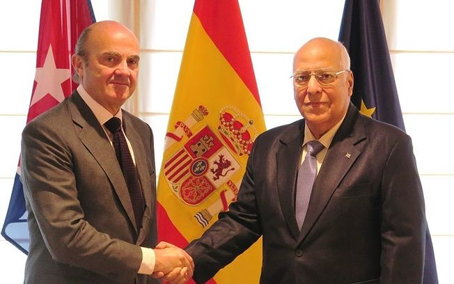 Cabrisas se reunió con miembros del Gobierno español en funciones.