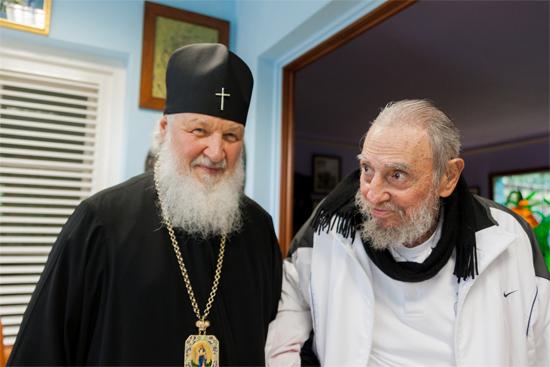 Fidel Castro y Su Santidad Kirill. (Fotos: Alex Castro)