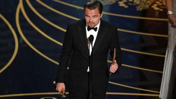 Leonardo DiCaprio fue galardonado como mejor actor por The Revenant.