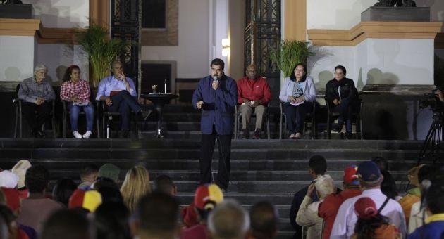 Maduro exhortó a las fuerzas revolucionarias a la unión e integración para poder cumplir con las tareas establecidas. (Foto AVN)