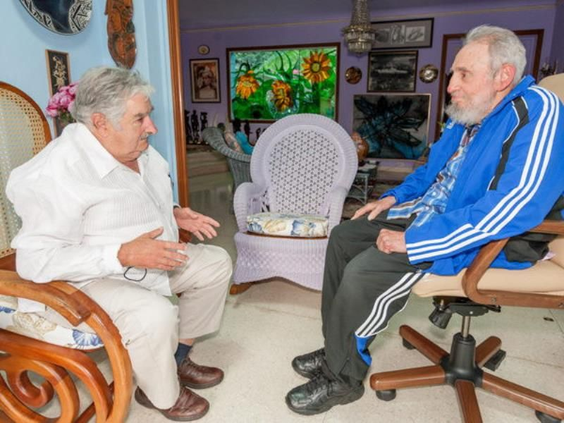 cuba, uruguay, jose mujica, fidel castro