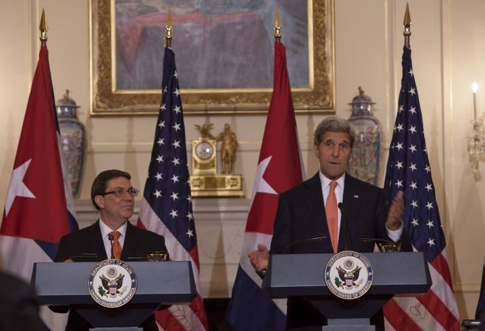 Bruno y Kerry reiteraron su compromiso para hacer que el viaje de Obama a la mayor de las Antillas sea un éxito. (Foto Archivo)