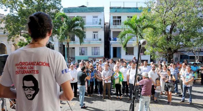 En el ICAP tuvo lugar una jornada de apoyo a la nación sudamericana. (Foto: Juvenal Balán)