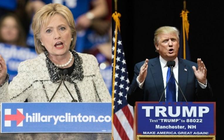 Hillary Clinton (demócrata) y Donald Trump (republicano) llevan las mejores opciones.