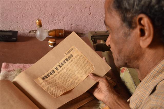 Como corresponsal para Escambray, Zamora reflejó el acontecer cultural de Trinidad.