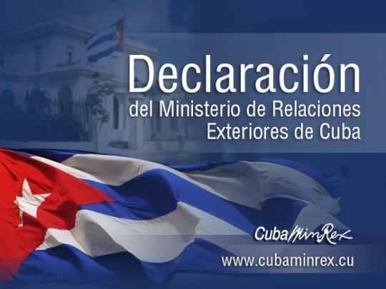 La cancillería reiteró el firme compromiso de la isla de continuar contribuyendo en todo lo posible al logro de un acuerdo final entre el gobierno de Colombia y el ELN.
