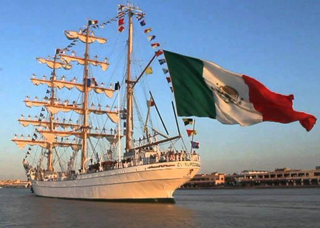 cuba, mexico, buque escuela, bahia de la habana