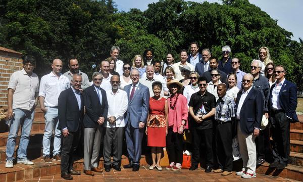 Entre los lugares visitados por la comitiva norteamericana estuvo la Universidad cubana de las Artes. (Foto: ACN)