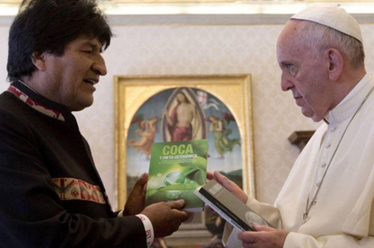 papa francisco, evo morales, roma, el vaticano, bolivia