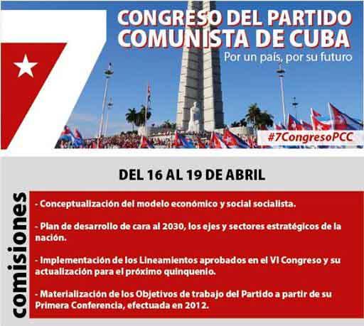 La séptima edición del mayor evento político de Cuba se desarrollará del 16 al 19 de abril.