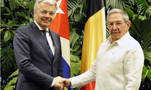 Raúl y el canciller belga adordaron las potencialidades para el desarrollo de las relaciones bilaterales.
