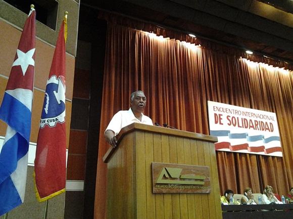 Entre los ponentes estuvo Fred Mason, presidente de la AFL-CIO de Maryland/Washington, D.C. (Foto: Cubadebate)
