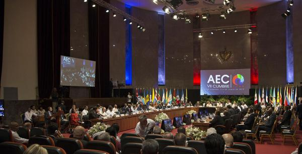 Sesión inaugural de la VII Cumbre de Jefes de Estado y/o Gobierno de la VII Cumbre de la Asociación de Estados del Caribe (AEC), en el Palacio de la Revolución, en La Habana, Cuba, el 4 de junio de 2016. ACN FOTO POOL/Ismael Francisco GONZÁLEZ/Cubadebate/sdl