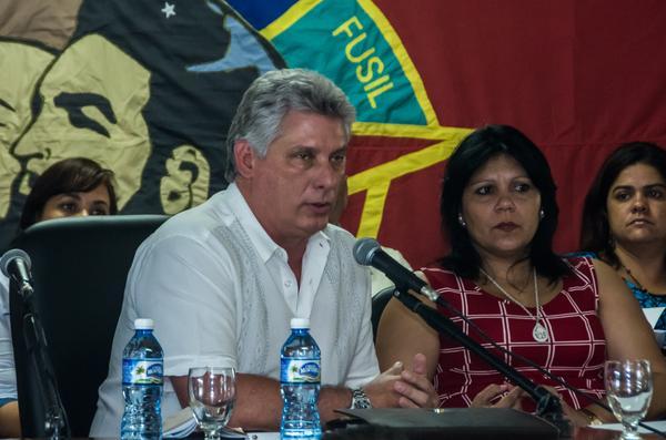 Díaz-Canel  intervino en el  III Pleno del Comité Nacional de la UJC. (Foto ACN)