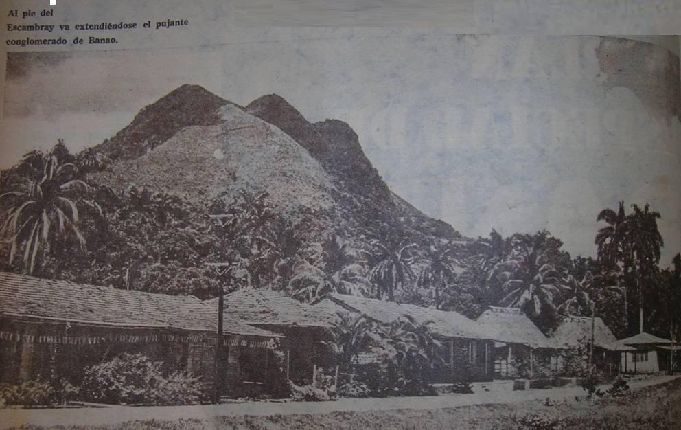 Vista de Banao en la década del 60 del siglo pasado. (Foto: Archivo)
