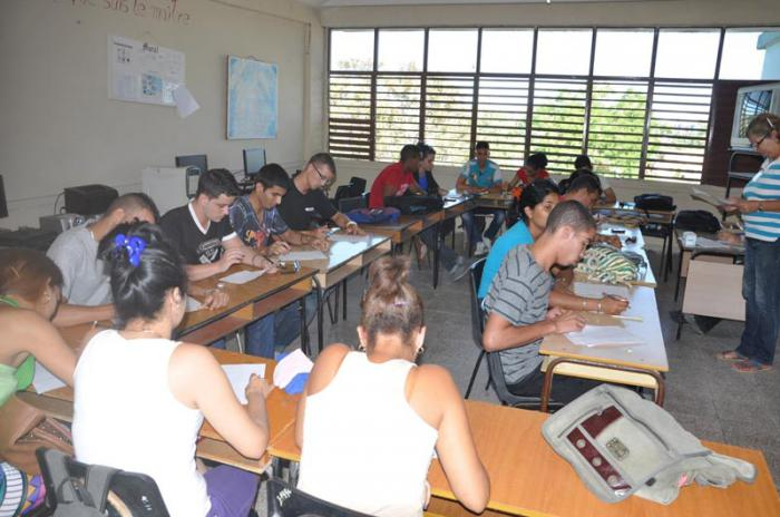 Un total de 32 carreras o titulaciones se cursan hoy en la Universidad de Sancti Spíritus José Martí Pérez. (Foto: Vicente Brito / Escambray)