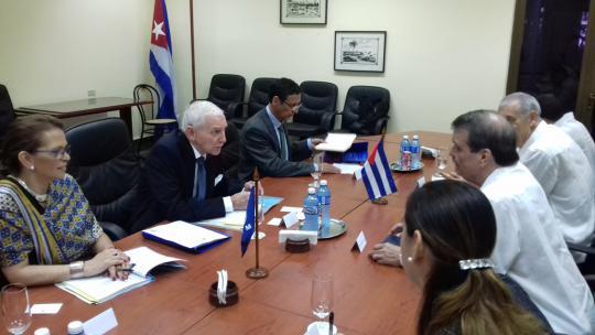 Abelardo Moreno recibió al Director General de la Organización Internacional para las Migraciones .
