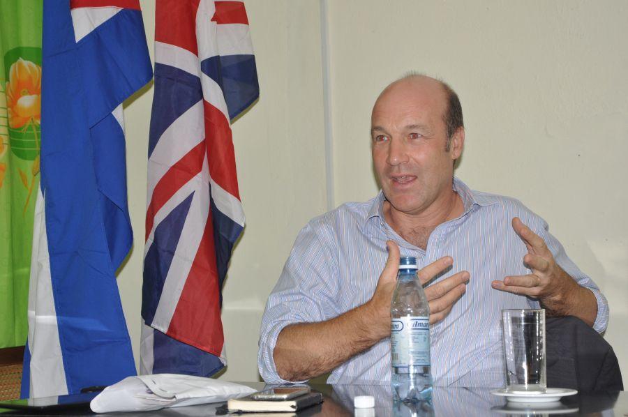 Cole se declaró admirador de la cultura cubana, particularmente de su música. (Foto: Vicente Brito/ Escambray)