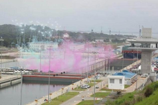 El acto protocolar de apertura de la ampliación del Canal se realizó en las esclusas de Cocolí, en la vertiente pacífica de la ruta transoceánica.