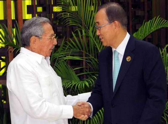 Ban Ki-moon expresó su satisfacción por visitar nuevamente nuestro país. (Foto Juvenal Balán)