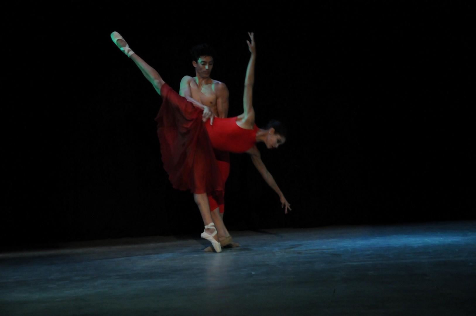 En Soledad la pasión interpretativa se adueñó del escenario. (Foto: Vicente Brito/ Escambray)