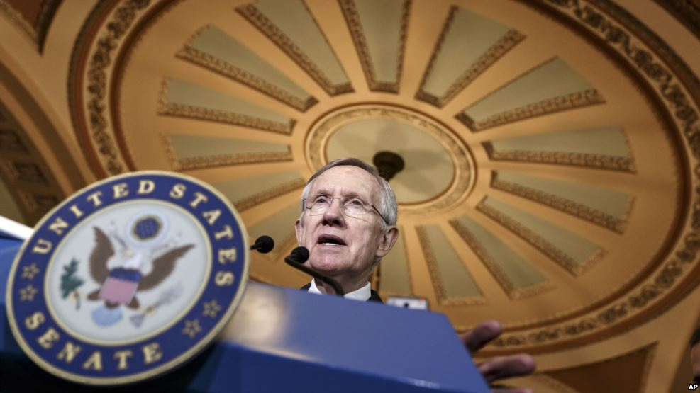 El líder de la minoría demócrata del Senado de EE.UU., Harry Reid.