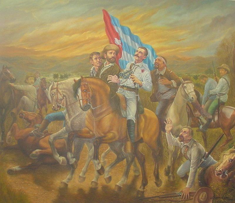 Martí elogió al Mayor General Serafín Sánchez en el periódico Patria.