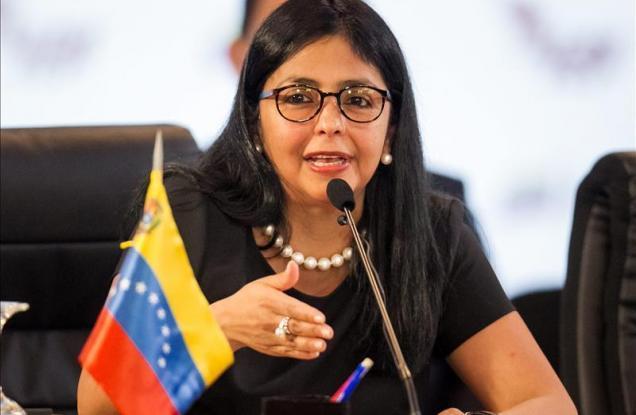 La canciller de Venezuela Delcy Rodríguez rechazó las declaraciones del portavoz del Departamento de Estado estadounidense, John Kirby.