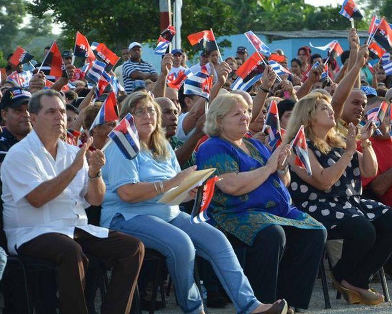 El acto político-cultural estuvo presidido por José Ramón Monteagudo, miembro del Comité Central y primer secretario del Partido Comunista de Cuba (PCC) en el territorio. (Foto: Oscar Alfonso/ ACN)