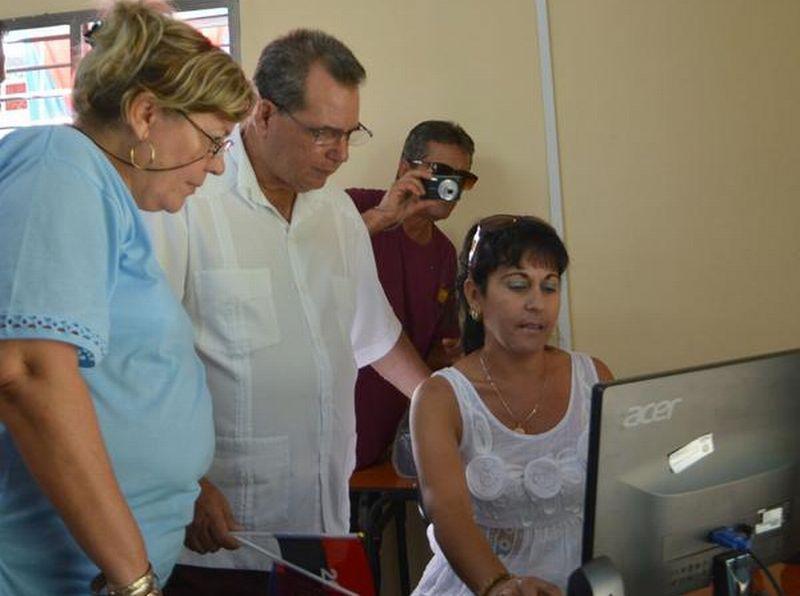 El Centro de Documentación e Información Pedagógica (CDIP), perteneciente a la Dirección Municipal de Educación recibió una rehabilitación integral. (Foto: Oscar Alfonso/ ACN)
