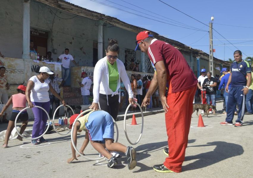 Los niños protagonizarán las actividades deportivas en su día. (Foto: Carlos Luis Sotolongo/ Escambray)