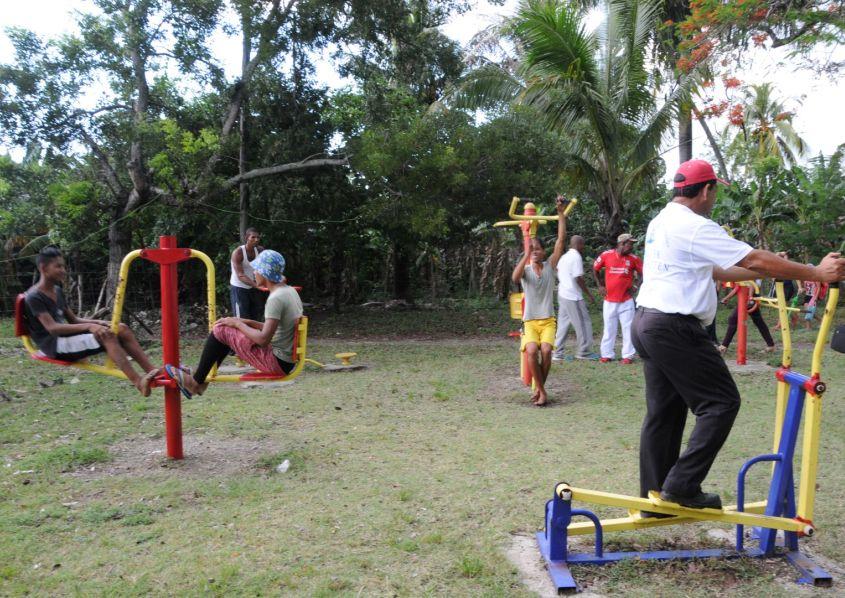 sancti spiritus en 26, deporte, gimnasios biosaludable, instalaciones deportivas
