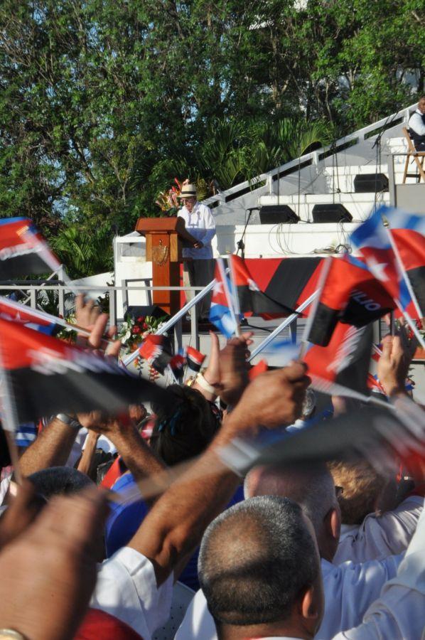 Sancti spiritus en26, 26 de julio, Raúl castro, cuba, dia de la rebeldia nacional, asalto al cuartel moncada, 90 cumpleaños de fidel castro