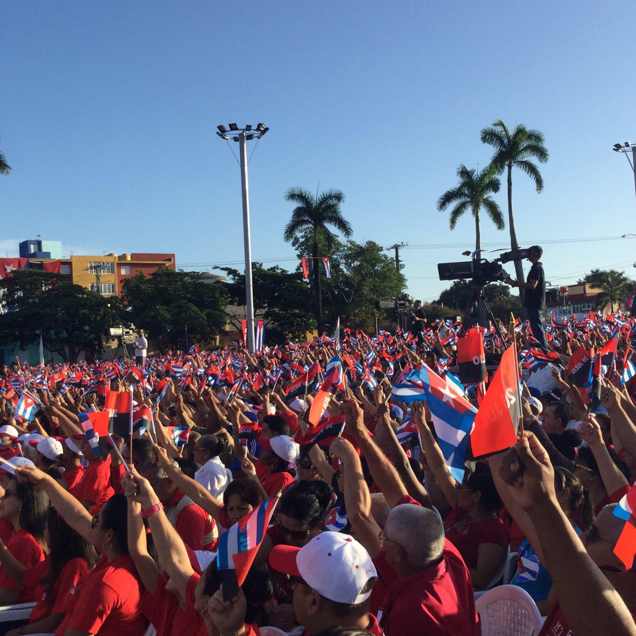 Concluye el acto central nacional a propósito de la efeméride del 26 de Julio. (Foto: Marlys Rodríguez/ Escambray)