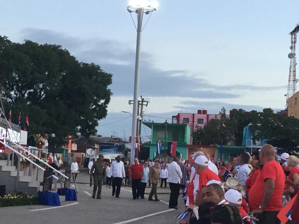 A punto de comenzar el acto central por el 26 de Julio, en Sancti Spíritus. (Foto: Marlys Rodríguez/ Escambray)