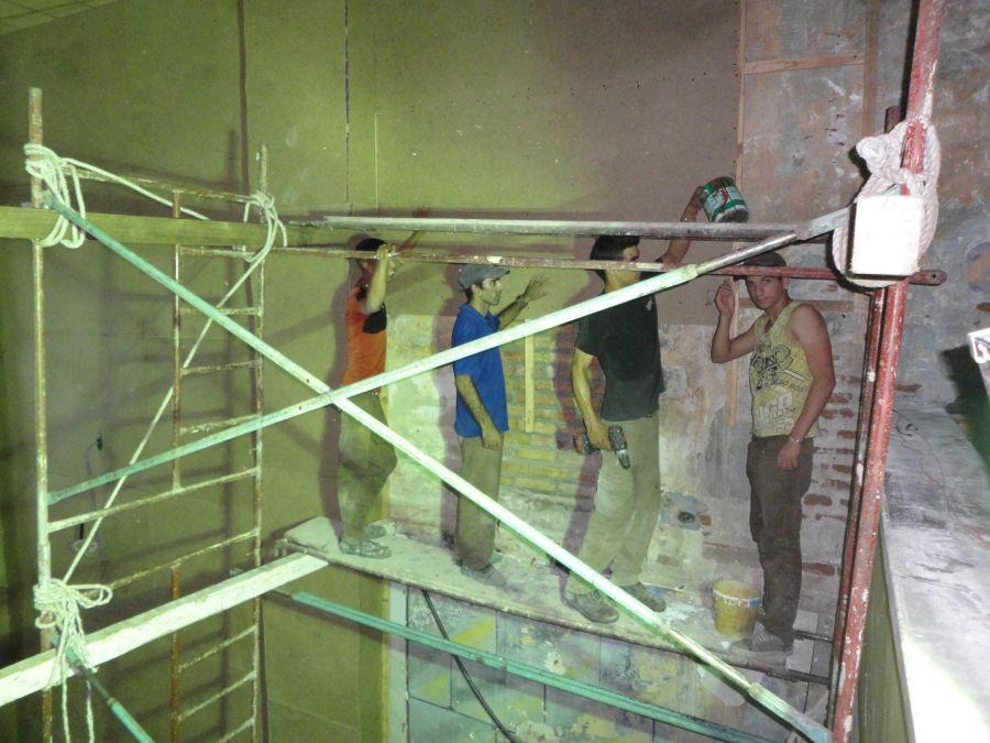 Remodelación y montaje de una Sala Teatro y Cine 3-D en el interior del antiguo cine Serafín Sánchez. (Foto: Luis Herrera/ Escambray)