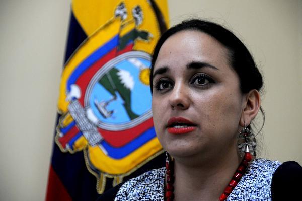 Gabriela Rivadeneira, presidenta de la Asamblea Nacional de Ecuador. (Foto: ACN)