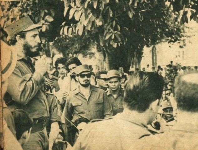 Fidel despide el duelo de las víctimas de la operación trujillista.