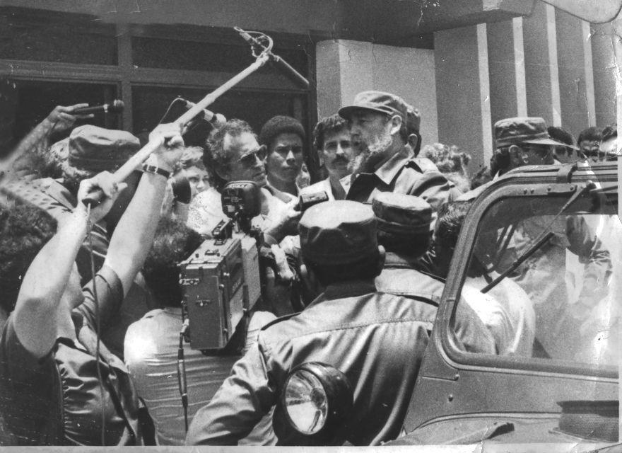 Rafael Daniel participó en múltiples coberturas a visitas de Fidel a la provincia.