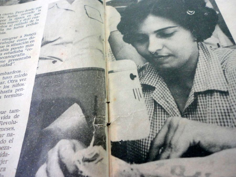 Georgina Rodríguez en la escuela ana betancourt