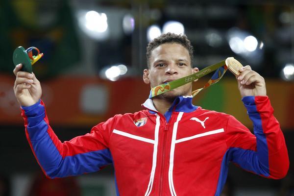 Ismael Borrero aportó la primera medalla de oro de Cuba Río. (Foto: ACN)