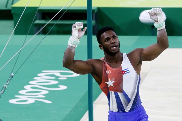 Manrique Larduet registró una favorable actuación en la gimnasia artística. (Foto: ACN)