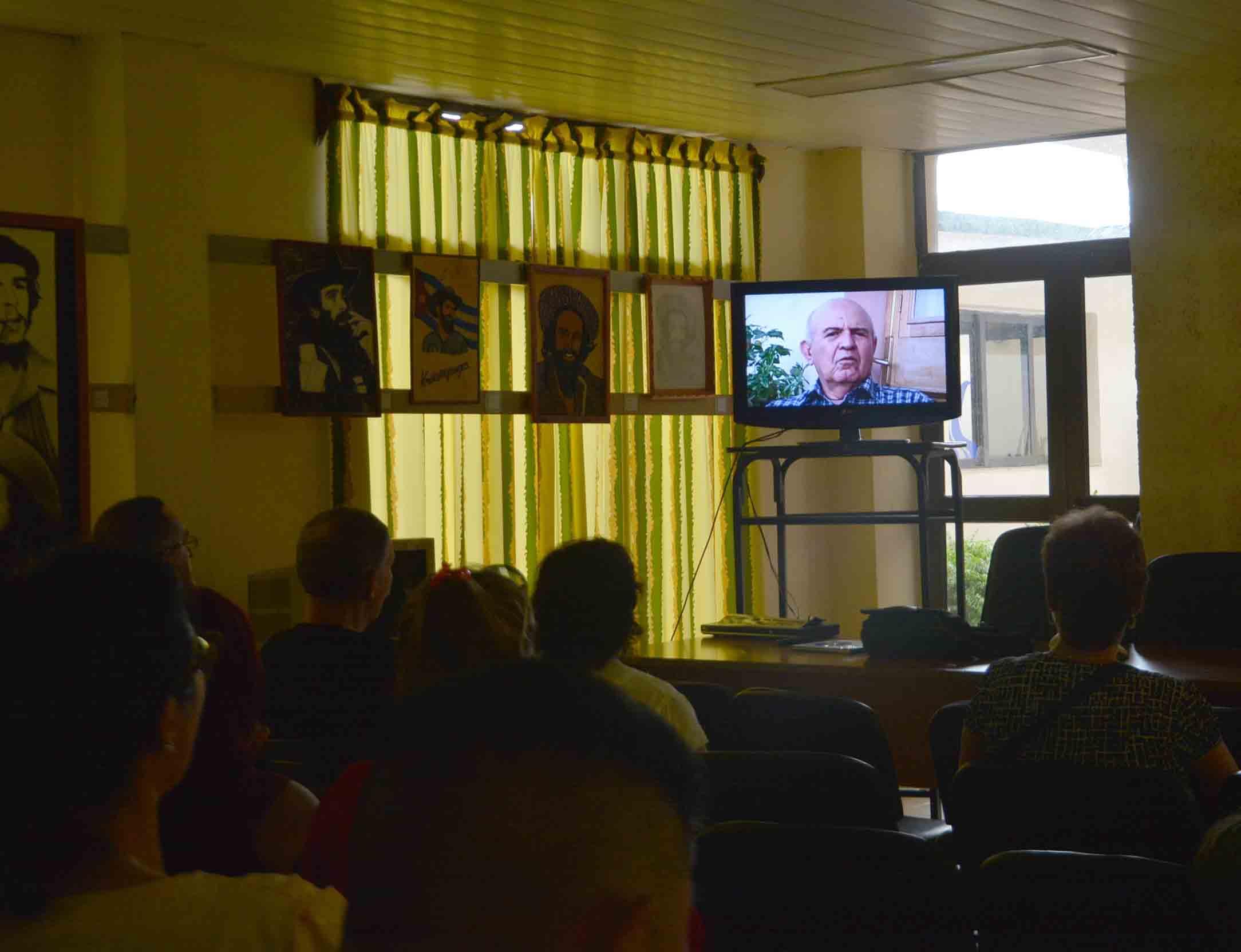 El audiovisual es fruto de un proyecto entre la Agencia de Medios Alternativos y Taller Editorial (AMATE), con sede en Los Ángeles, Estados Unidos, y la UPEC. (Foto: Oscar Alfonso)
