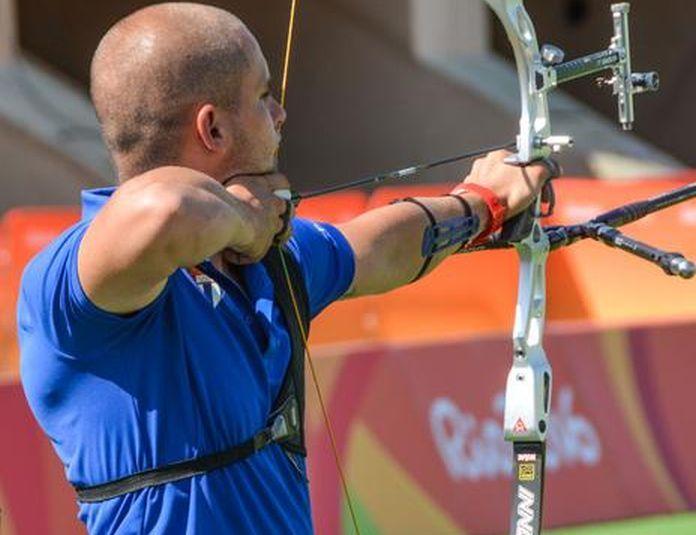 El arquero Adrián Puente se batió con hombres de calibre y terminbó en el lugar 17 en Río. (Foto: ACN)